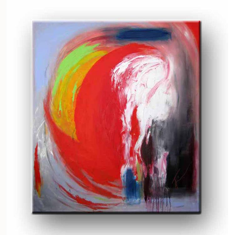Colorful painting of Acrylic on gallery wrapped professional grade canvas